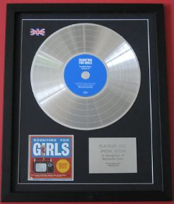 SCOUTING FOR GIRLS - Everybody Wants TO BE ON TV CD / PLATINUM LP DISC